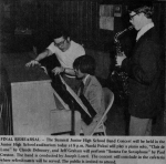 Newspaper Clipping of Junior High School Band Concert with Naoki Fukui - Circa ? (photo courtesy of Joseph Loreti/Facebo