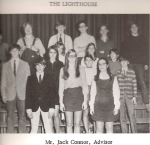 The Lighthouse (Junior High yearbook) committee featuring James and Jim! James is in full ' howdy pardner' mode...  Ja