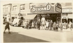The Strand - Circa 1938.  Roth's Strand movie theater. Theater manager Joe Gillis 'dressed his doorman as The Lone Ran