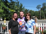 A thorn amongst the roses (Brigitta VanDillen-Gucker, Tom Kelly and Cindy Hannas after the 15 mile bike ride around the